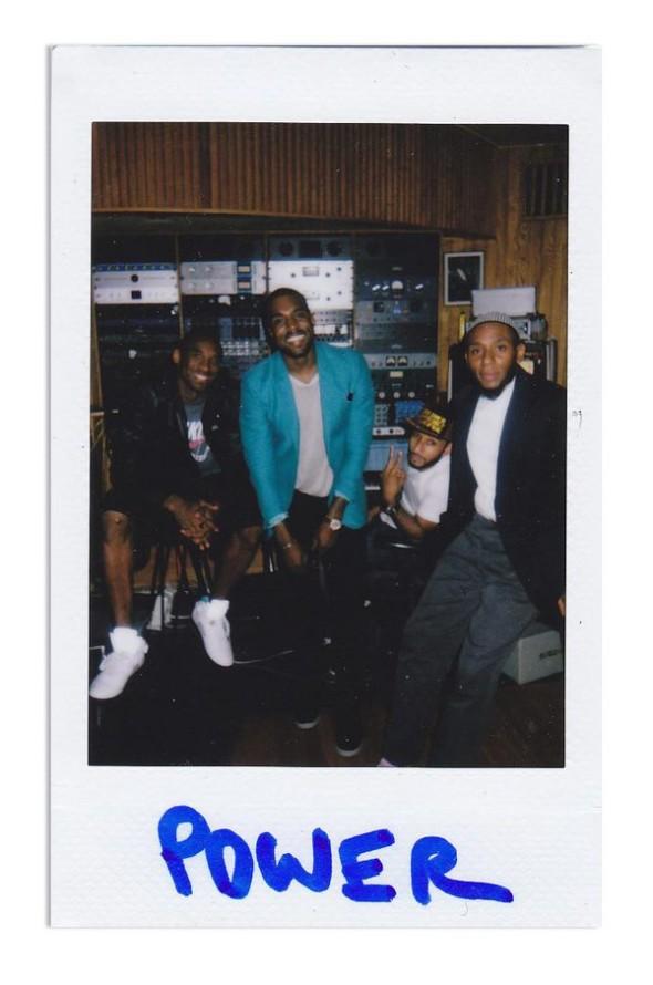 Kobe, Yeezy, Swizz and Mos Def In Studio Circa 2010