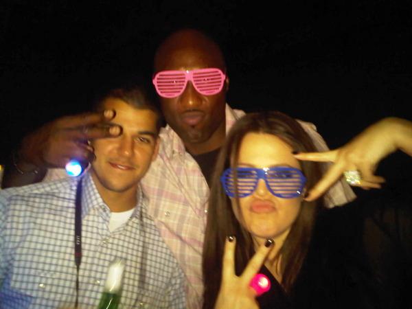 Rob Kardashian, Lamar Odom, Khloe Kardashian circa 2010