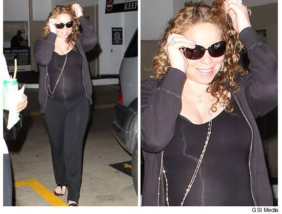 Spotted Stalked Scene Mariah Carey S Baby Bump