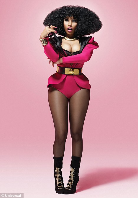 nicki minajs new shoot includes lace gold chains