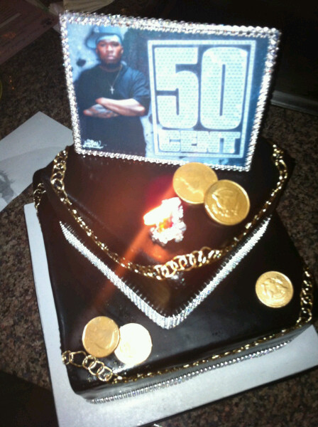 50 Cent Celebrates Birthday With Cake Cake Thejasminebrand