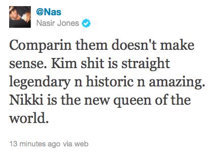 Nas Calls Nicki Minaj The Queen Denies Banging Foxy Brown Thinks