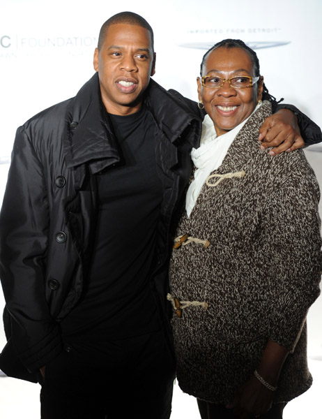 Jay Z Mother and Sister http://thejasminebrand.com/2011/09/30/jay-z-hangs-with-mama-alex-rodriguez-a-huge-champagne-bottle/