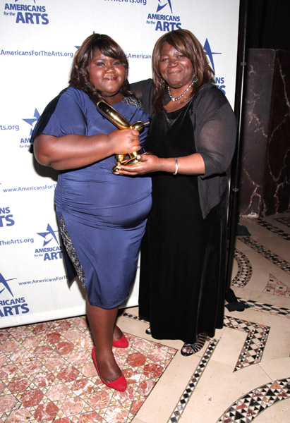 Photo of Gabourey Sidibe & her Sister  Ahmed Sidibe
