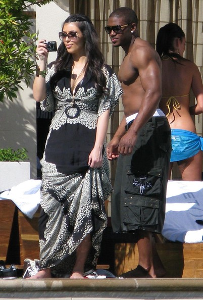 Reggie Bush And Kim Kardashian Beach Kim Kardashian ...