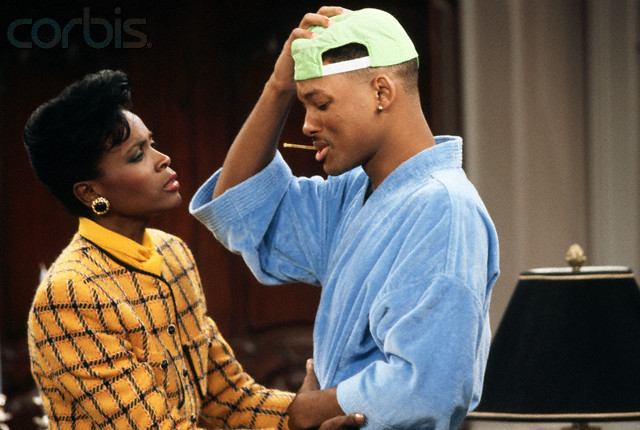 Will Smith and Janet Hubert-Whitten Acting
