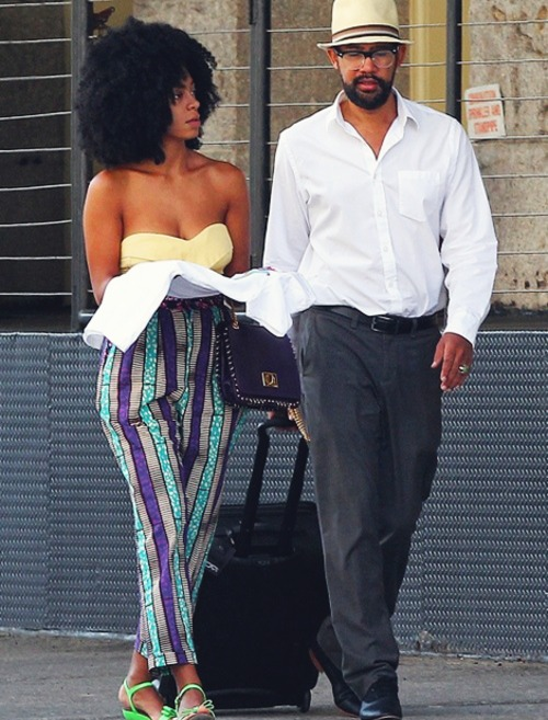 Solange Knowles with cool, Boyfriend Alan Ferguson