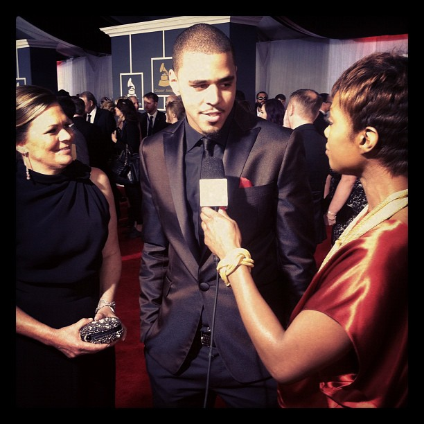 J Cole And His Mom psmile