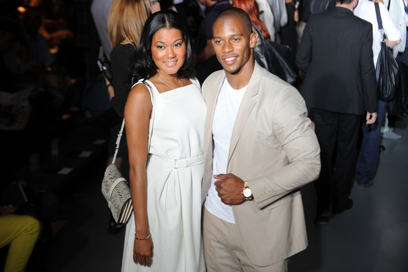 Victor Cruz_Elaina Watley_Calvin Klein Collection_Milan Fashion Week_thejasminebrand