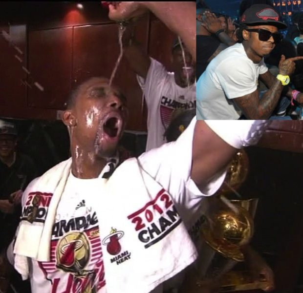 [Video] Lil Wayne Got Jokes, Introduces Christopher Bosh 'Champagne Dance'