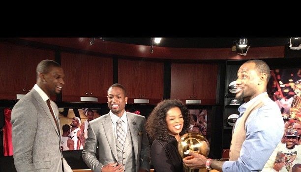 Behind-the-Scenes :: Oprah Winfrey Interviews King James, D.Wade & Christopher Bosh