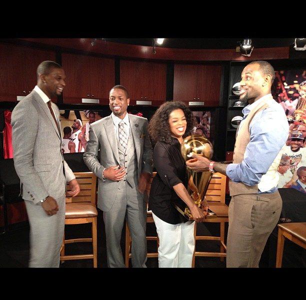 Behind-the-Scenes :: Oprah Winfrey Interviews King James, D.Wade & Christopher Bosh