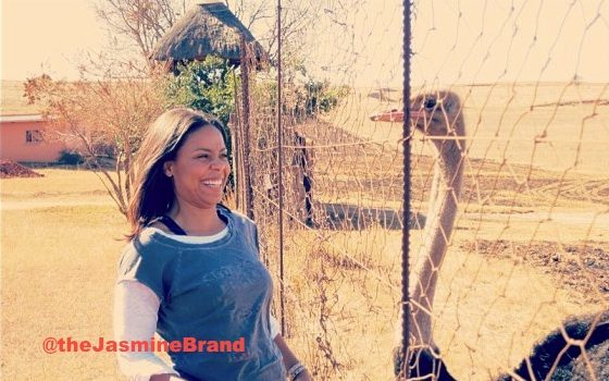 Sanaa Lathan & Actress BFF's Hit Johannesburg + Play Nice With Wild Kingdom
