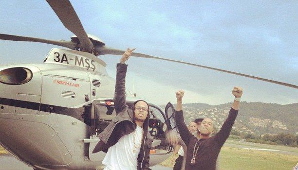 Chris Brown Reverts to Platinum Blonde Hair + Ludacris & Breezy Shoot in France
