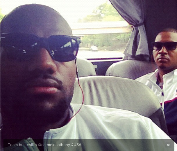 Chris Paul, King James, Carmelo Anthony & Friends Shoot #TeamUSA Olympic Out Takes