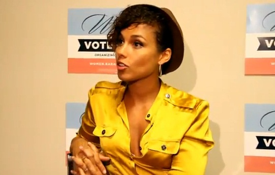 [Photos] Alicia Keys Lends Her Celebrity Support for President Obama