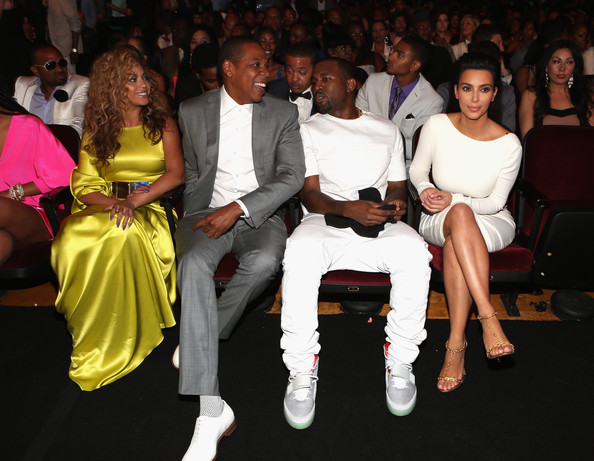 Jay-Z, Beyonce, Kanye West & Kim Kardashian Trip-A-Referee At the #BETAwards