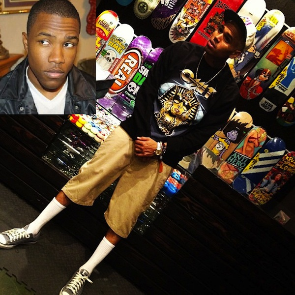 "Chris Brown Denies Saying ""No Homo"" About Frank Ocean"