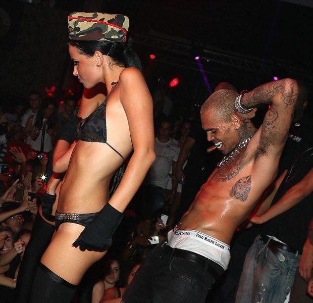 Chris Brown Parties & Flirts At Club, While Karrueche Tran Seems Unfazed