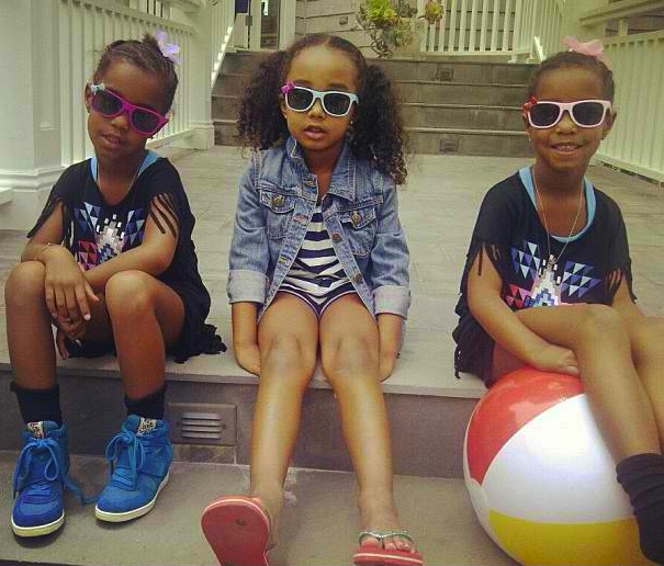 Diddy's Daughters: Twins D'Lila & Jessie, Along With Chance, Stunt & Smile