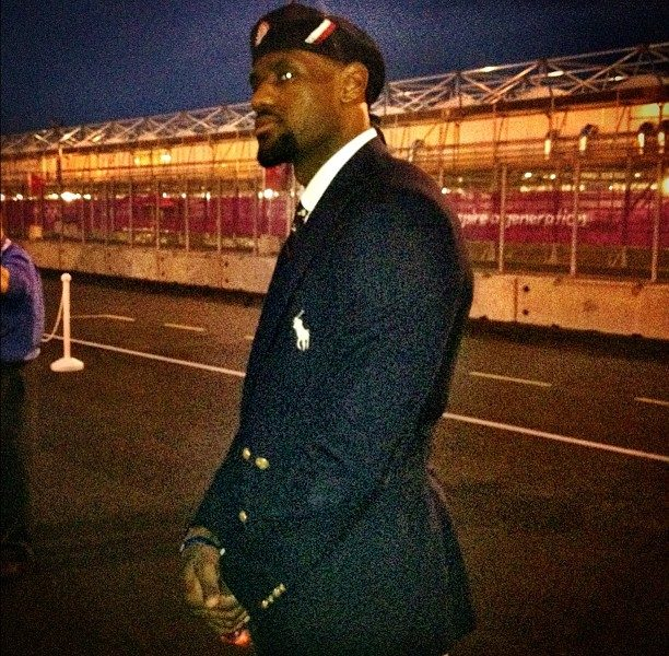 Candids : Lebron James, FLOTUS, Carmelo Anthony Spotted At Olympic Games Opening