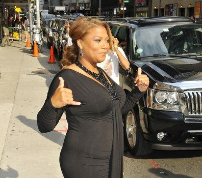 Spotted. Stalked. Scene. Queen Latifah & Friend Hit David Letterman