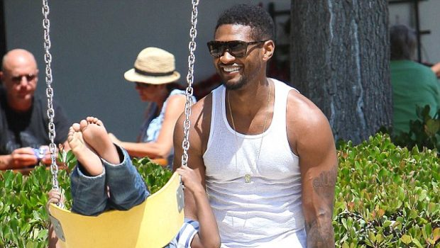 Spotted. Stalked. Scene. Usher Plays Daddy Daycare in Malibu