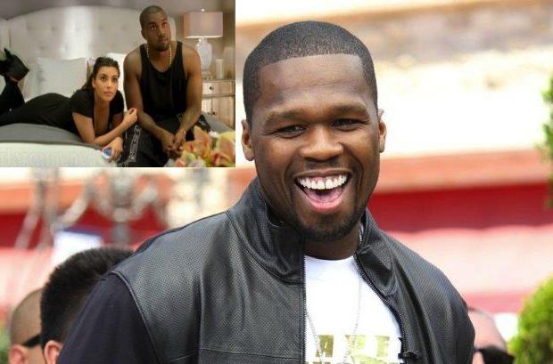 50 Cent Calls Kanye West's Boo, Kim Kardashian, 'Trash'