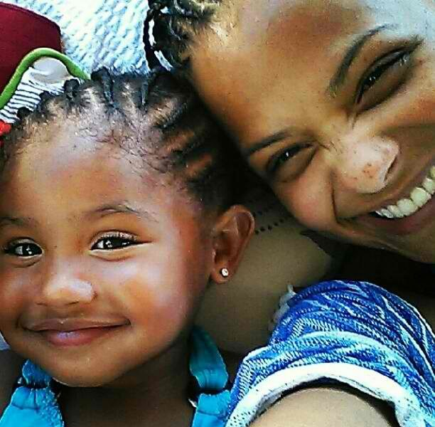 Christina Milian & Daughter Rock Matching Cornrows In Caribbean