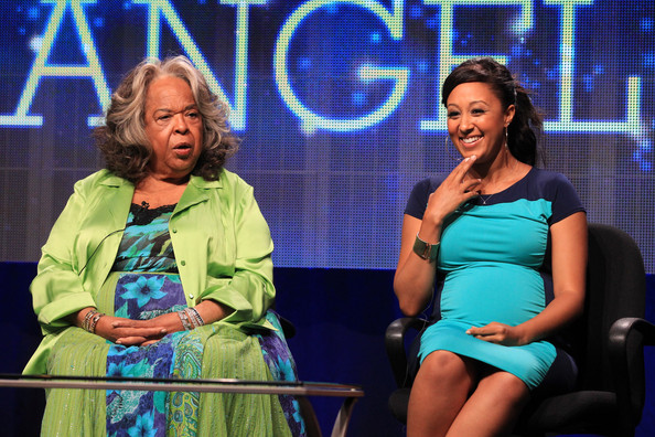 Della Reese_Tamera Mowry-Housley_2_Christmas Angel_TCA Summer Press Tour_thejasminebrand