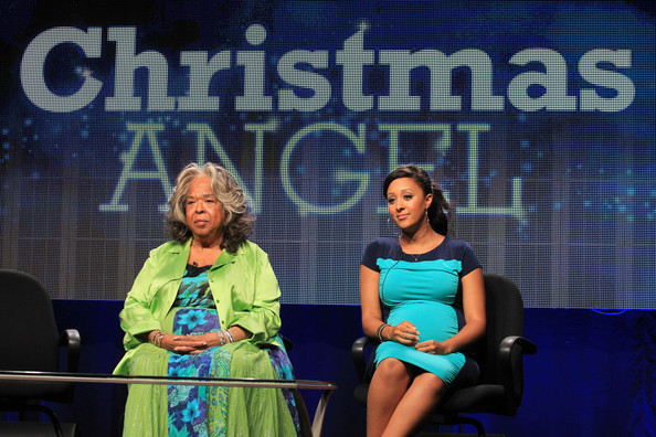Della Reese_Tamera Mowry-Housley_3_Christmas Angel_TCA Summer Press Tour_thejasminebrand