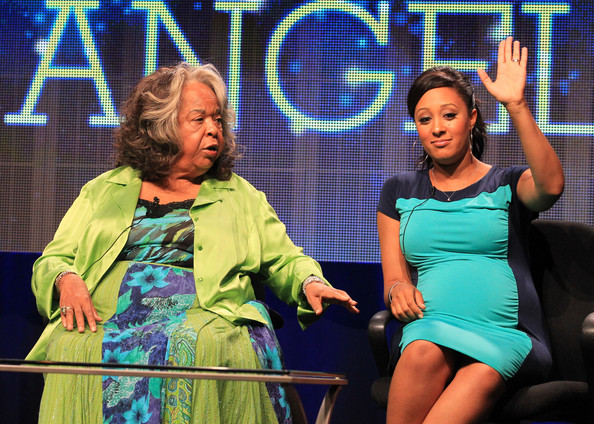 Della-Reese_Tamera-Mowry-Housley_Christmas-Angel_TCA-Summer-Press-Tour_thejasminebrand