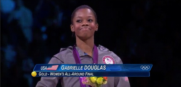History Maker: Gabby Douglas 1st African American To Win Women's All Around Gym Gold