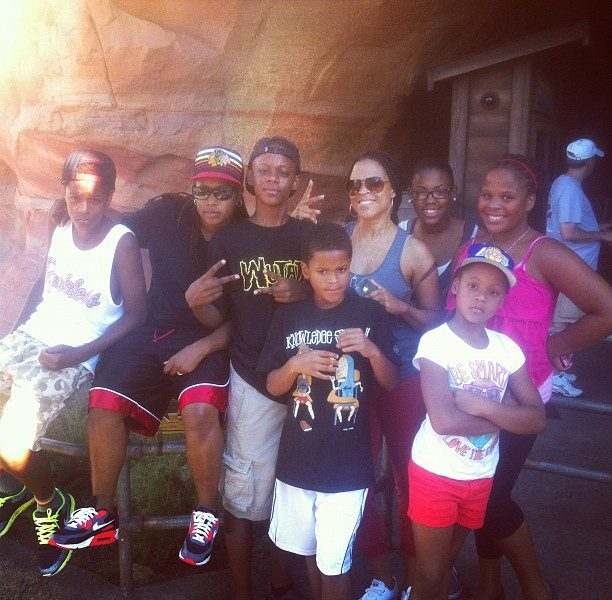 Basketball Wives' Shaunie O'neal & Family Hit Disney Land