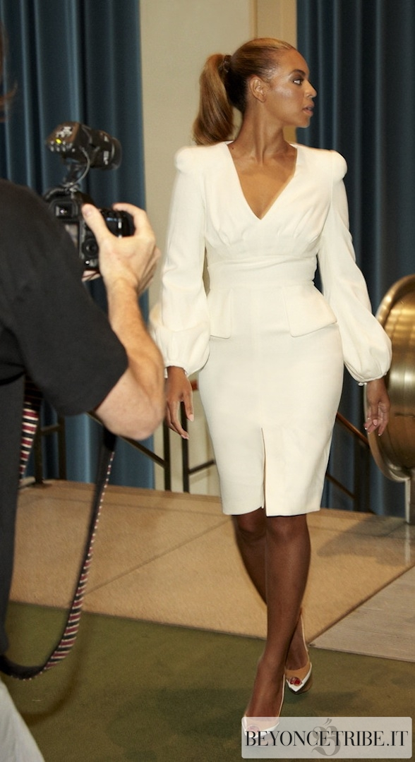 No More Box Braids Beyonce Gets Chic For United Nations