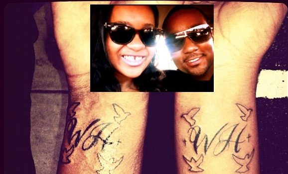 [Photos] Bobbi Kristina & Boyfriend Get Matching Whitney Houston Tattoos