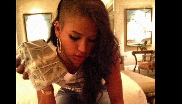 [Candids] Cassie Celebrates B-Day With Bag of Money, Private Jet + Celebrity Friends