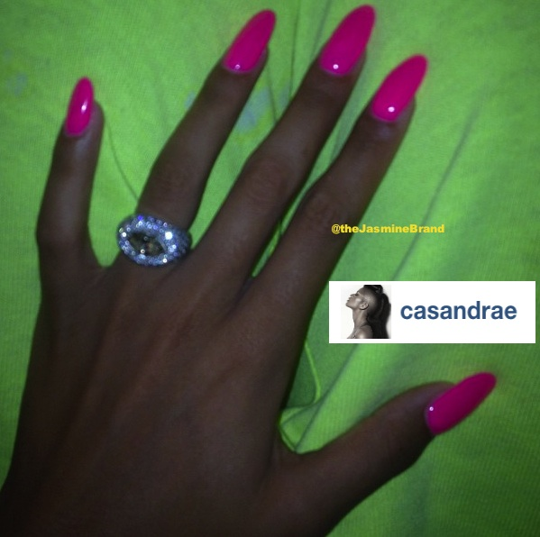 Cassie's Ring Game : It Ain't An Engagement Ring, But It's Still Icy
