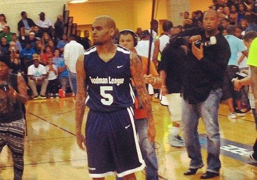 Chris Brown & Karrueche Hit DC for 'Goodman League' Basketball Game