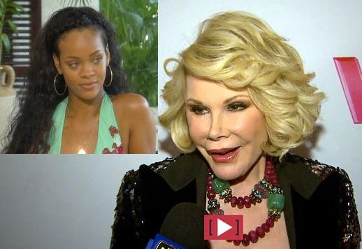 Joan Rivers Calls Rihanna An Idiot, Rihanna Tells Joan to Put On Diapers