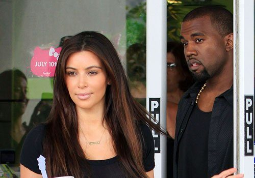 Kim Kardashan & Kanye Wear Matching Leather Bottoms