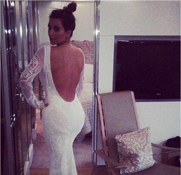 Attention Seeking or Hinting Marriage : Kim Kardashian Tries On Wedding Gown