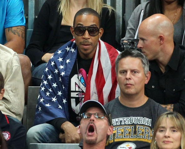 Ludcaris, Holyfield & Condoleezza Rice Trip-A-Referee @ Olympic Basketball Game