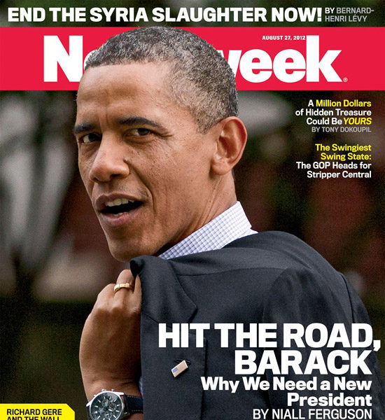 "Newsweek's Cover Tells President Obama, ""Hit the Road Barack!"""