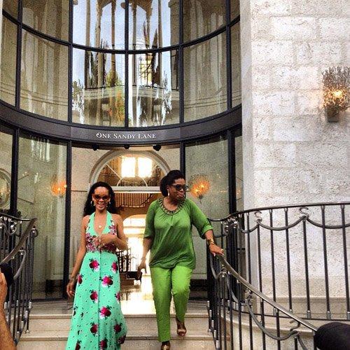 Spotted. Stalked. Scene. Rihanna Shows Oprah Winfrey Around Barbados