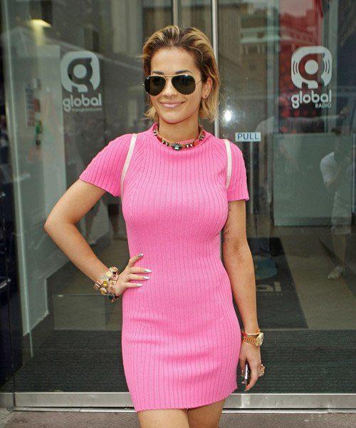 Rita Ora Hits Capital FM + Fake Tattoos Mysteriously Disappear
