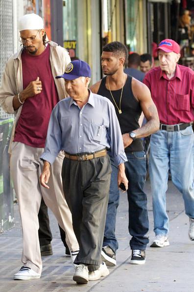 [Photos] Usher Makes First Public Appearance Since Winning Custody