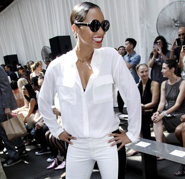 NYFW Spottings : Alicia Keys Goes Edgy, Tasha Smith Goes to Harlem + Angela Simmons Goes Pink