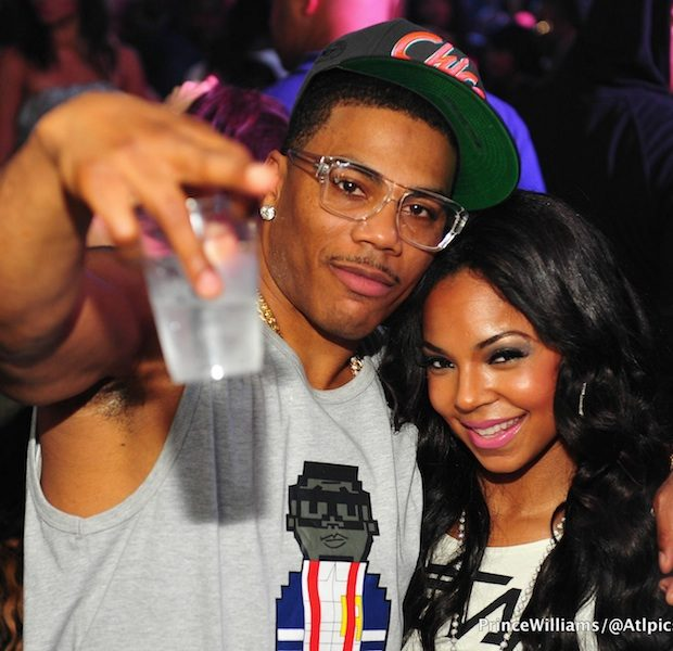 [Photos] Ashanti & Boyfriend Nelly Flirt And Party At Atlanta Club