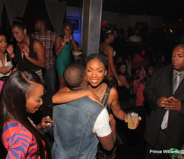 [Photos] Brandy & Ray-J Hug And Party Together in ATL
